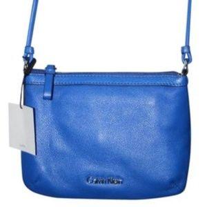 Calvin Klein  Handbag  Blue Leather Cross boby
